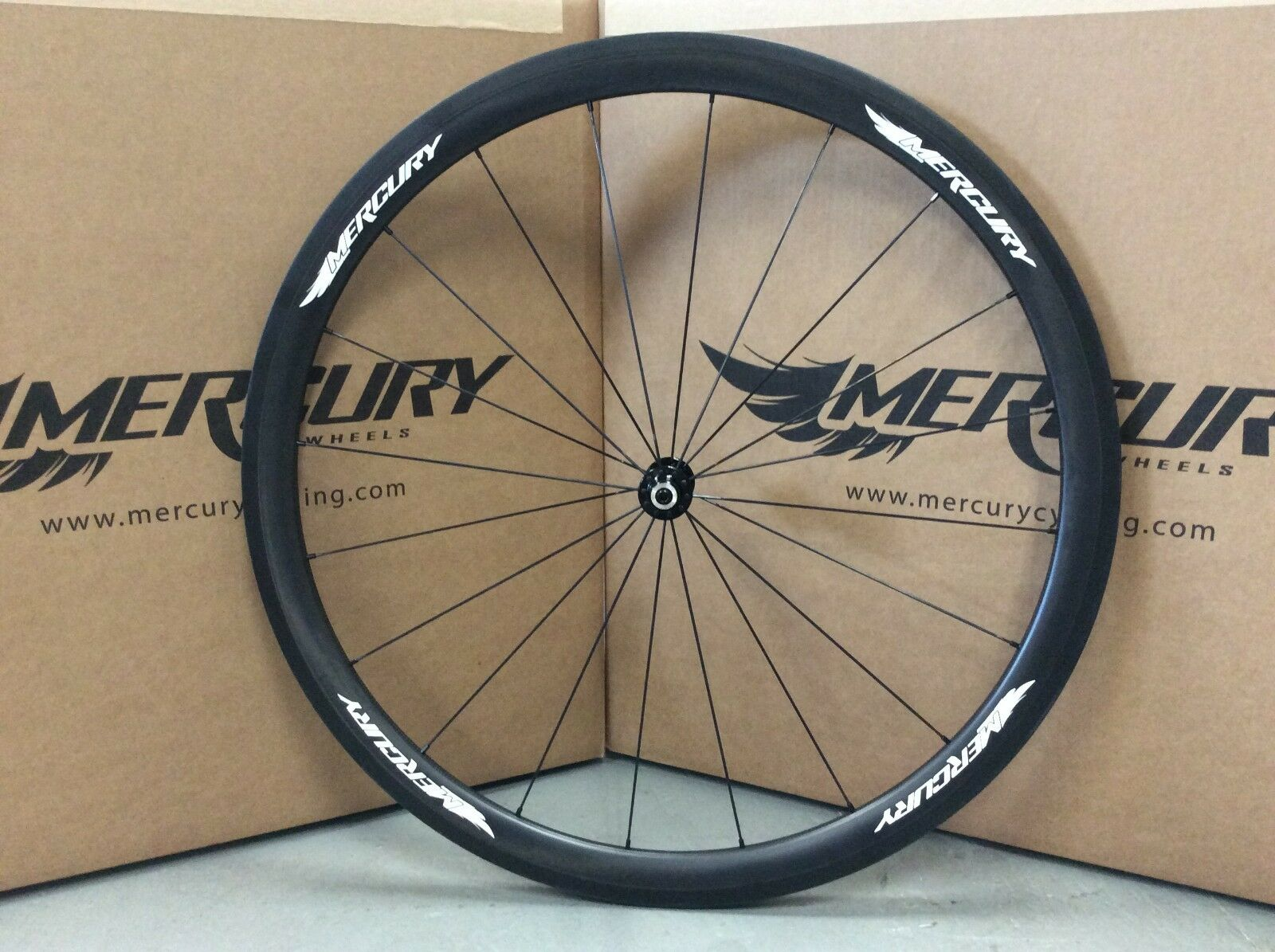 2015 Mercury Cycling M3T Carbon Tubular 700c Front Wheel - NEW