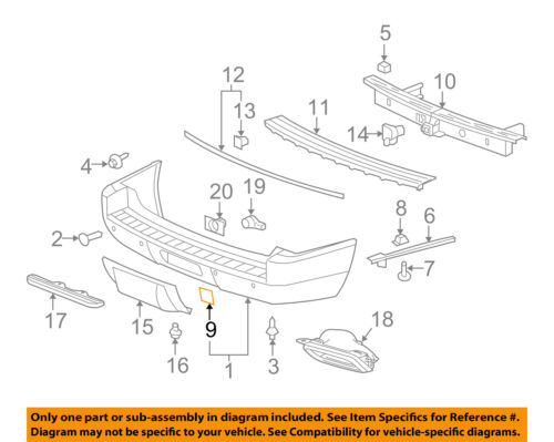 GM OEM Rear Bumper-Access or Tow Hitch Cover Panel 15811583