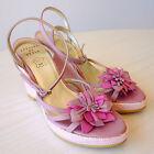 Chaussures Femme Été Sandales Compensées Cuir Rose 37 AFFAIRE DE STYLE