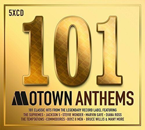 101 MOTOWN ANTHEMS (Various) (Best Of) 5 CD SET (2017)