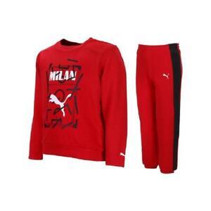 Tuta enfant AC Milan baby jogger 756849-01 Rosso-Nera cotone ...