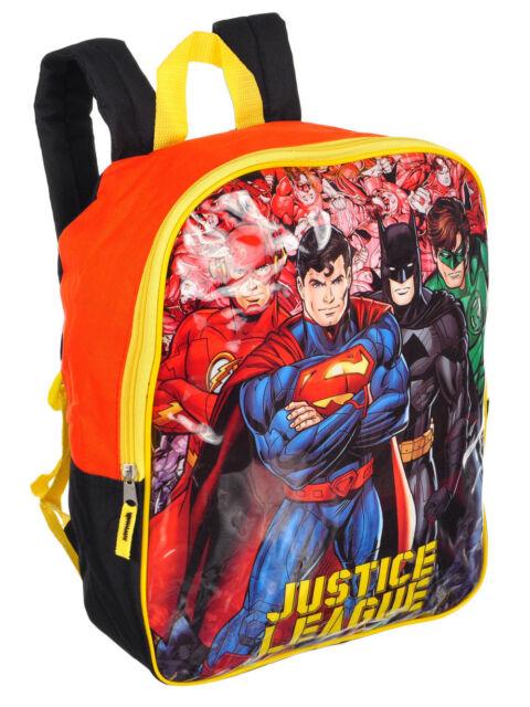 14e05bf393ce DC Comics JUSTICE LEAGUE BATMAN SUPERMAN 15X12 Boys School Backpack - NEW  Large