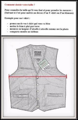 """Live To Ride /"""" S à 7XL Biker Gilet jacket blouson sans manche en cuir /"""" Aigle"""