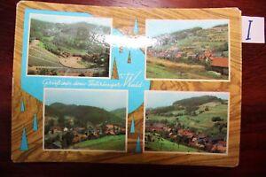 Carte Postale Vue Carte Thuringe Salue De La Forêt De Thuringe-afficher Le Titre D'origine