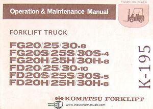 komatsu forklift fg and fd series forklift operations. Black Bedroom Furniture Sets. Home Design Ideas