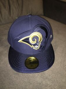 2fd03122f Details about NWT New Era 59fifty Los Angeles Rams Blue/Gold Fitted Hat  Size 7 7/8