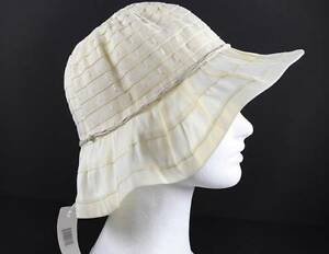 71899919649 Jeanne Simmons Ivory White Braid String Trim Hat 3