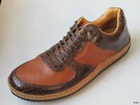 Mens J.brand J.shoes Brown Leather Lace-up Shoes Us 7.5