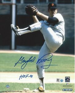 Gaylord-Perry-Autographed-8x10-Photo-SF-Giants-HOF-91-Steiner-amp-MLB-Authentic