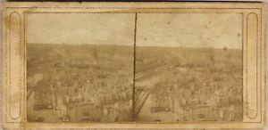 Parigi-Panorama-Francia-Foto-Stereo-Vintage-Albumina-c1865