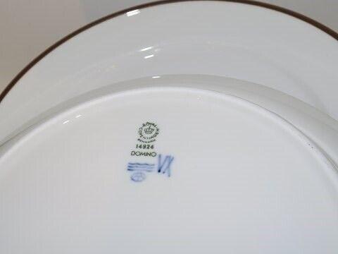 Porcelæn, Domino  Middagstallerken 24 cm.,