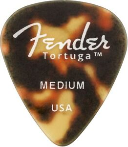 Genuine Fender Tortuga Picks 551 Heavy 6 Pack