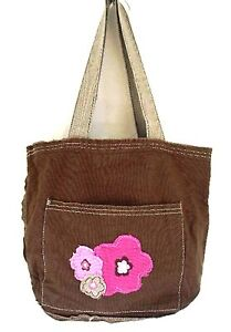 Thirty-One-Mini-Retro-Metro-Bag-Brown-w-Frayed-Pink-Flowers-Retired-31-Gifts
