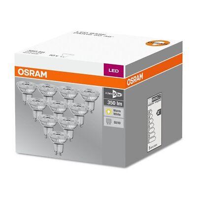 12er-PACK OSRAM LED BASE PAR16 GU10 LED Strahler 3W=35W 36° 2700K