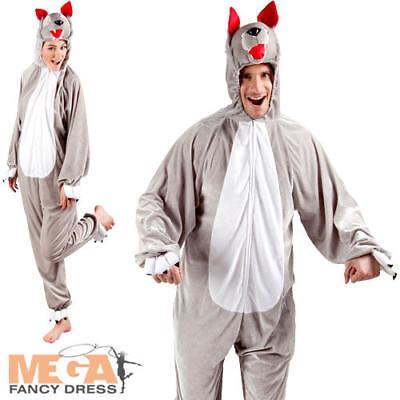 Fornito Wolf Tutina Adulti Animale Costume Libro Settimana Giorno Da Uomo Donna Costume Outfit-mostra Il Titolo Originale Tieniti In Forma Per Tutto Il Tempo