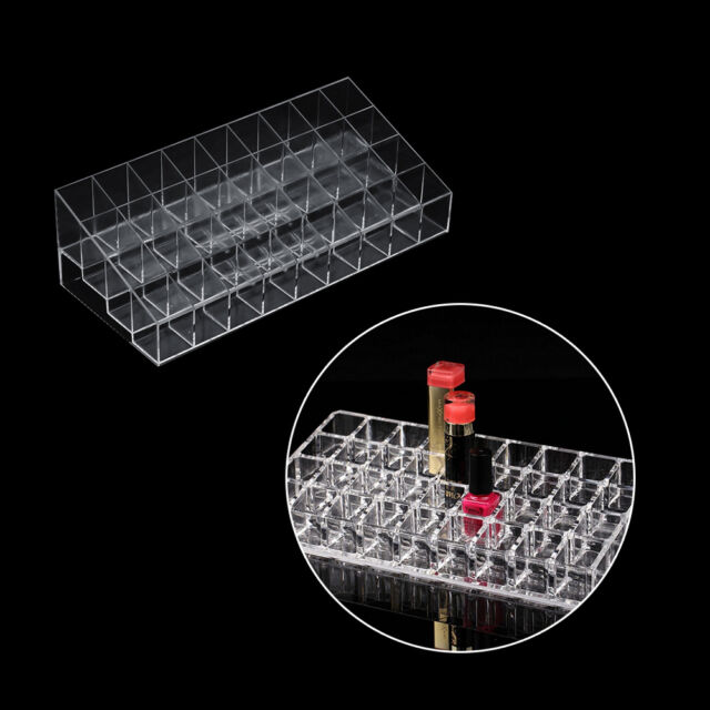 Transparent 36 Grid Lipstick Mascara Holder Cosmetic Organiser Display Rack pT