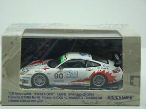 MINICHAMPS-PORSCHE-GT3-RS-1000KM-SPA-2004-ICKX-TINSEAU-RABINEAU-1-43