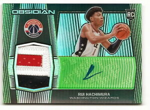 2019-20-OBSIDIAN-RUI-HACHIMURA-GREEN-ROOKIE-PATCH-AUTOGRAPH-RPA-6-25-WIZARDS