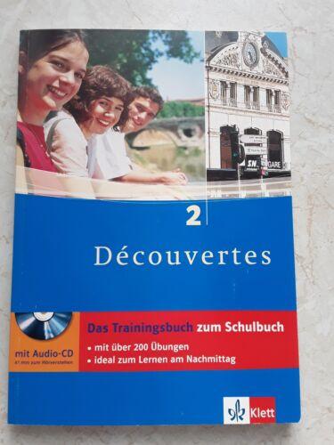 1 von 1 - Klett Decouvertes 2 Trainingsbuch Découvertes Audio CD 200 Übungen + Lösungen