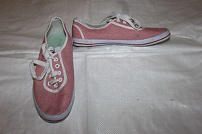 Señoras Blanco y Rojo Bombas Zapatillas Zapatos Talla 6 cómoda Pisos
