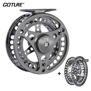 CNC-machined-Large-Arbor-Fly-Fishing-Reel-3-4-5-6-7-8-9-10WT-with-Spare-Spool