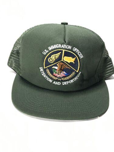 Vtg US Immigration Officer Detention And Deportation Trucker Hat Dead Stock!!