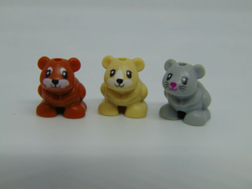 Genuine lego friends 3 x Hamster Animal