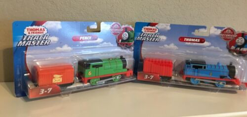 Trackmaster-Thomas AND Percy each w// CARs-battery operated motorized-NIP