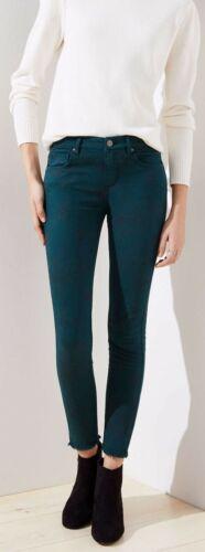 Ann Taylor LOFT Modern Floral Frayed Skinny Jeans Pants Various Sizes NWT