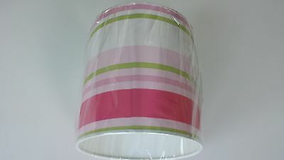 GeïMporteerd Uit Het Buitenland Lampshade Made From Paige Stripe Pink,green And White Wallpaper ...handmade...