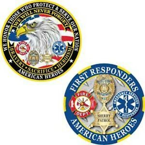 AMERICAN HEROES FIRST RESPONDERS FIRE POLICE SHERIFF 1 75