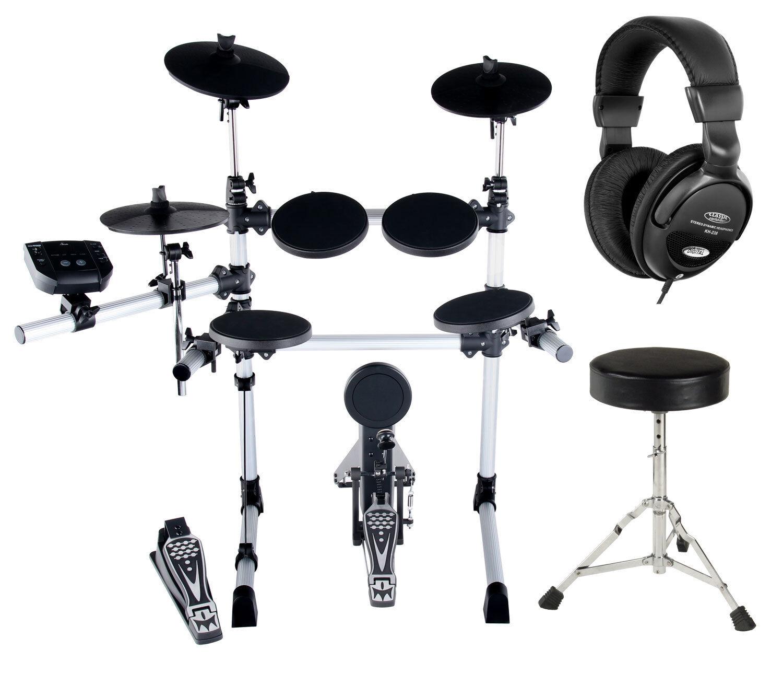 Digital E-Drum-Set SGABELLO CUFFIE BATTERIA SET COMPLETO Percussioni USB MIDI