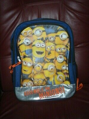 """DESPICABLE ME 2 MINIONS 16/"""" BOYS /& GIRLS SCHOOL BACKPACK NWT!"""