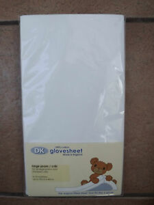 Fitted Cotton Baby Crib or Large Pram Sheet x 1 White NEW 40 x 95 cm