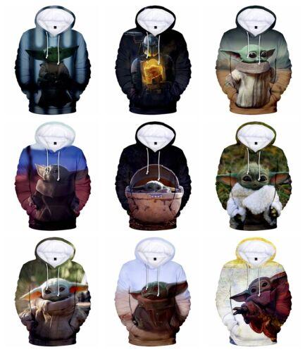 New Fashion Women//Men Star Wars The Mandalorian Baby Yoda 3D Print Hoodie K103