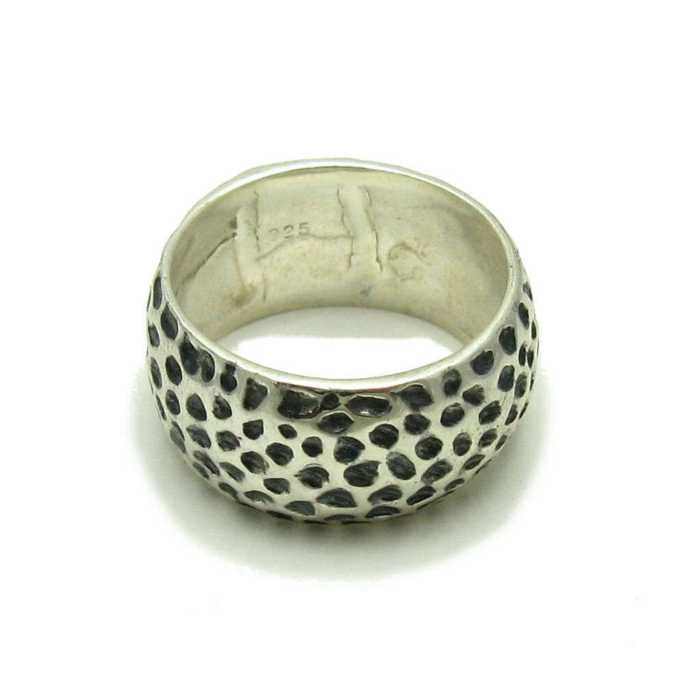 Stylish Sterling Silver Ring Solid 925 10mm Wide Band Nickel Free Empress