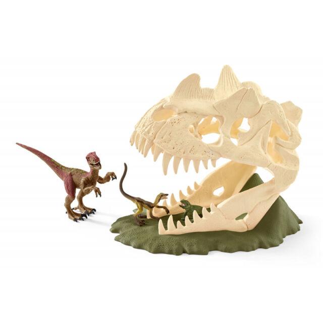 Schleich Dinosaurs Large Skull Trap with Velociraptor 42348 NEW