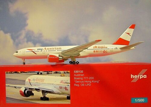 Herpa Wings 1:500 Boeing 777-200  Austrian OE-LPD  530132  Modellairport500