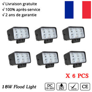 6X-LED-18W-Rampe-Flood-Phare-de-Travail-Phares-Longue-Portee-Jeep-4X4-Worklight
