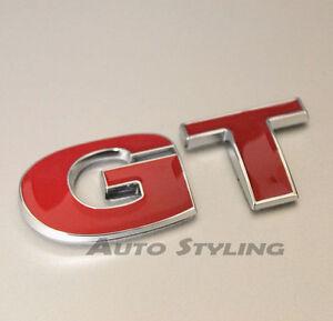 Image Is Loading Gt Red Car Badge Emblem Logo Vw Golf