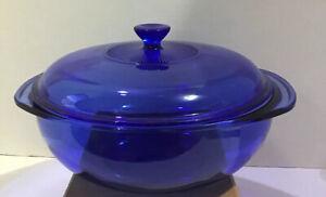Pyrex Cobalt Blue 2 Qt Serving Bowl #024 with Lid #624C