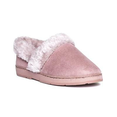 Womens Ladies Dr Keller Winter Synthetic Fur Warm Comfort Slippers Size 3 5 6