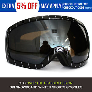 0538a68d632 OTG Ski Goggles Double Layers Anti-Fog Adult Snowboard Snow Skiing ...