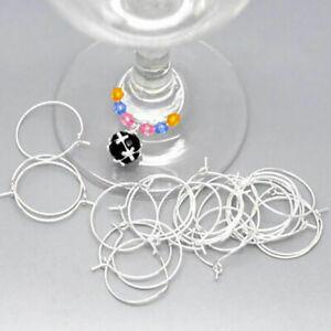 100pcs-Wine-Glass-Charm-Rings-Earring-Hoops-Wedding-Hen-Party-25x20mm-EP