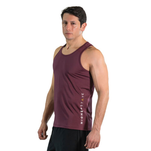 Higher State Homme Running Singlet Rouge Gym Respirant Léger