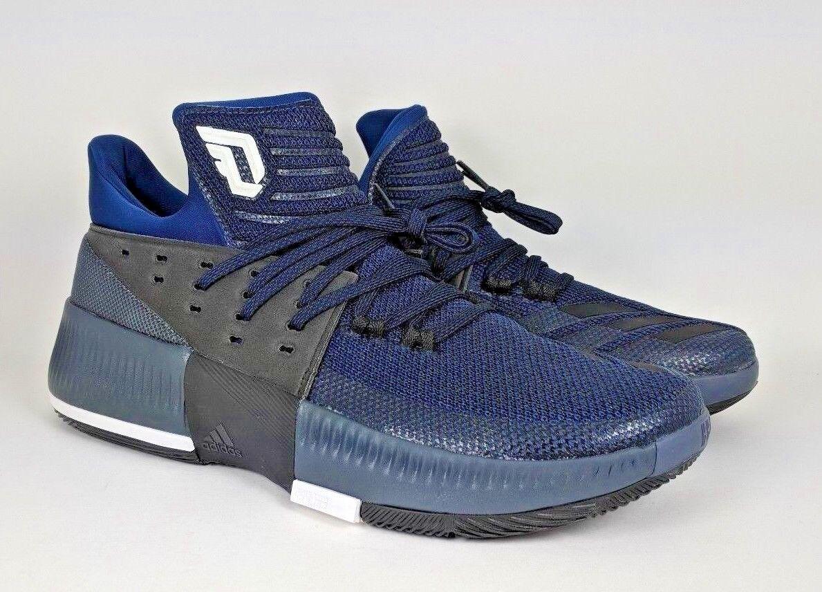 Adidas Men's Dame 3 Basketball shoes bluee Black White Lillard sz 10.5 (BB8271)