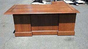 Image Is Loading Vintage L Shaped Desks Walnut Left Right Returns