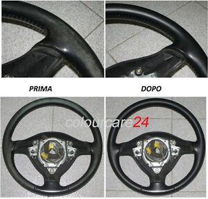 Kit-Ripristino-Colore-Volante-Pelle-Audi-NERO-Ritocco-vernice-Restauro-Interni