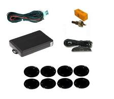 Black 8 Point Front & Rear Parking Sensor Kit with Display - Vauxhall Zafira
