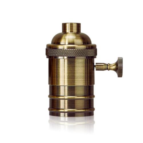 Vintage Industrial Lamp Light Bulb Holder Antique Retro Edison E27 Screw Fitting